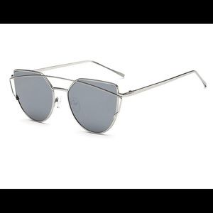 Accessories - Silver Mirror Lens Sunglasses